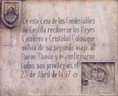 CARTELA+conmemorativa+en+la+portada+de+la+casa+del+cord%C3%B3n