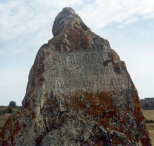 Monolito conmemorativo de la batalla de Atapuerca