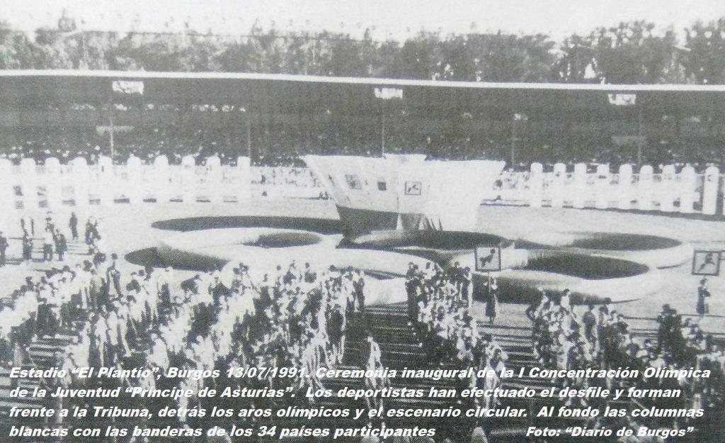 COJ´91.-Ceremonia-Inaugural.-El-Plantío-Burgos-13-07-1991-1024x625
