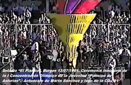 COJ´91.-Ceremonia-Inaugural.-El-Plantío-Burgos-13-07-1991-5-1