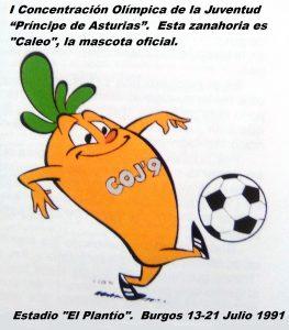 COJ´91.-Mascota-oficial-Burgos-13-a-21-de-julio-1991.-263x300
